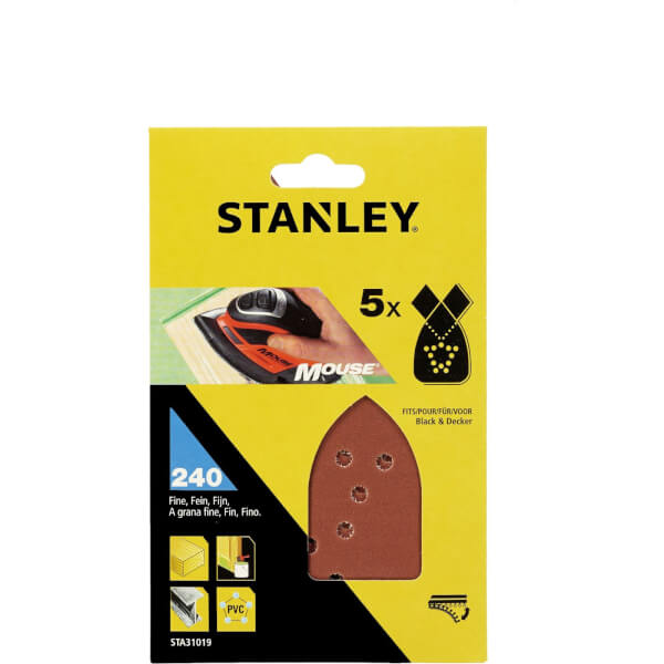 Stanley Mouse Sanding Sheets - 240G - STA31019-XJ