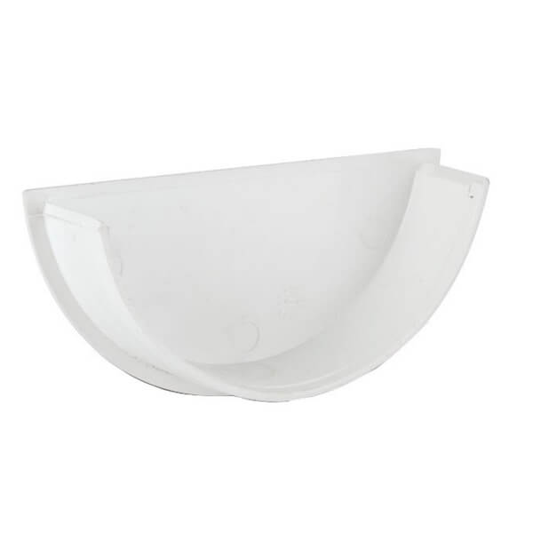 Polypipe Half Round Gutter Stop End Internal - 112mm - White