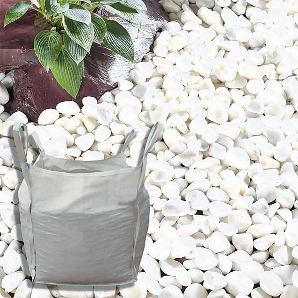 Stylish Stone Premium Arctic White Pebbles - Bulk Bag 750 kg