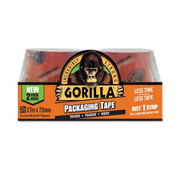 Gorilla Packaging Tape (2 x pack refill - 27m)