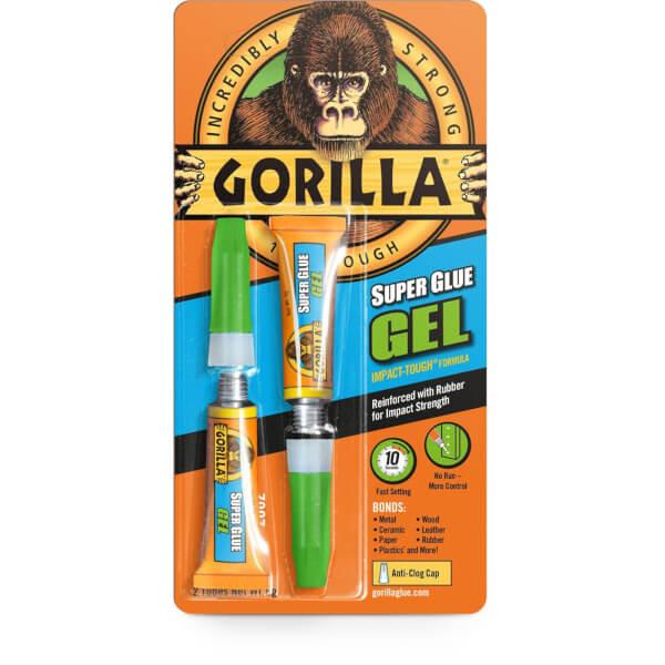 Gorilla Super Glue Gel - 2 x 3gm