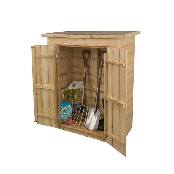 Forest (Installation Included) Wooden Shiplap Pentagonal Garden Store
