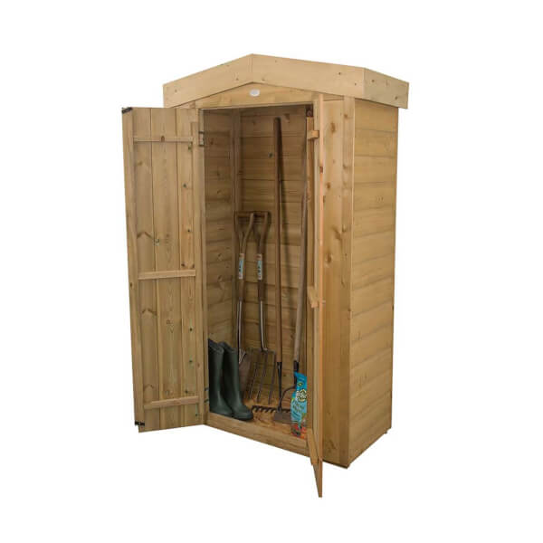 Forest (Installation Included) Wooden Shiplap Apex Tall Garden Store