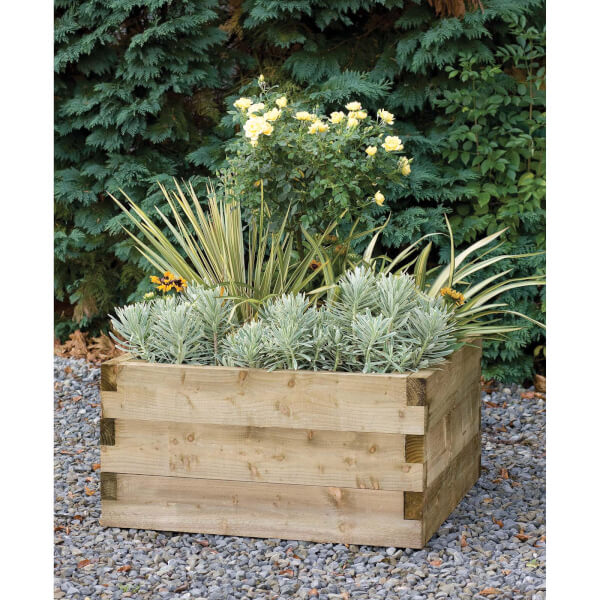 Forest Garden Wooden Caledonian Square Raised Bed