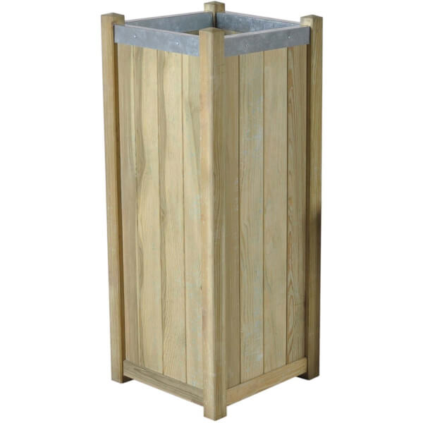Forest Garden Wooden Slender Planter - 100cm high
