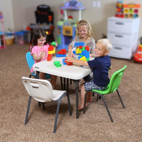 Lifetime Children's Folding Square Table - 24 x 24 Inch