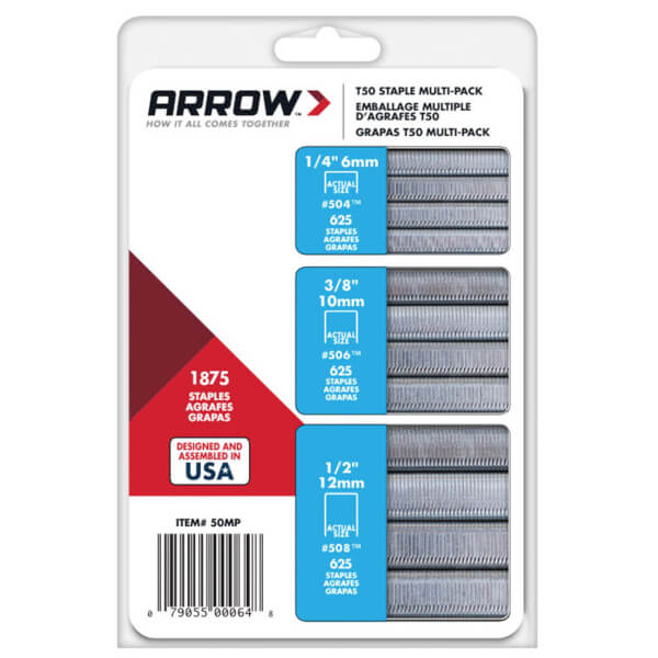 Arrow T50 Staples Multipack