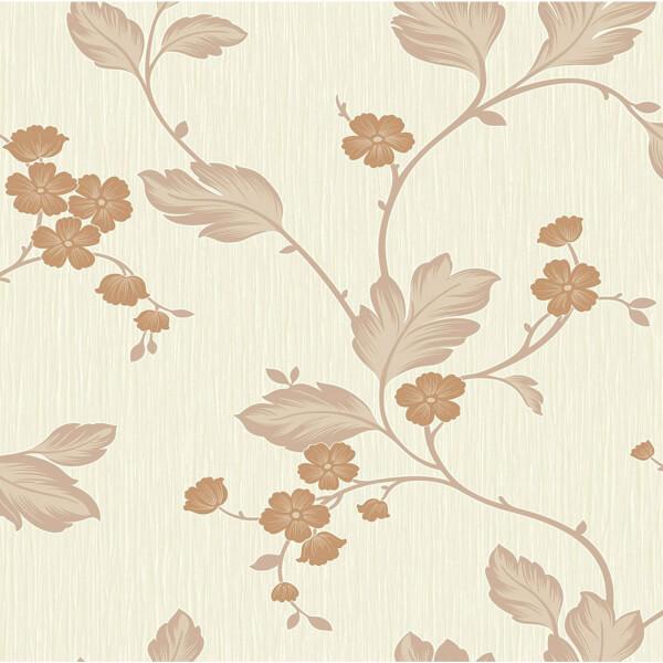 Grandeco Bella Rust Wallpaper