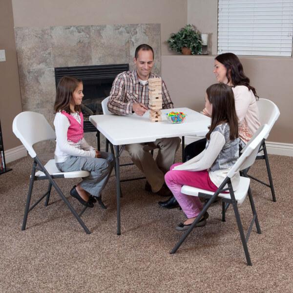 Lifetime 34 Inch Square Fold-In-Half Table