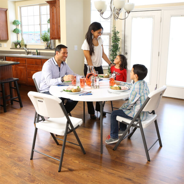 Lifetime 48 Inch Round Fold-In-Half Table
