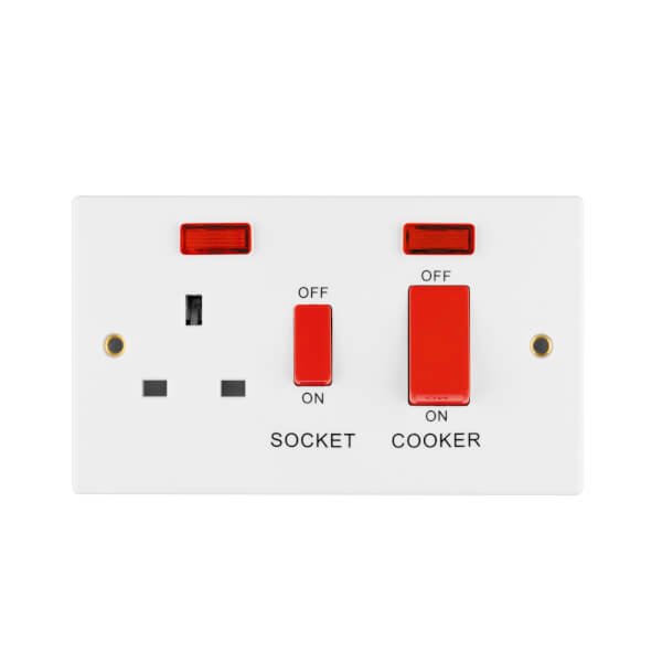 Arlec 45A Cooker Control Unit with Neon Indicator