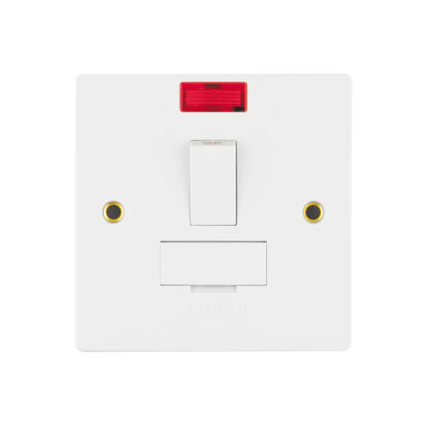 Arlec 13A Switched Fused Connection Unit with Flex Outlet and Neon Indicator