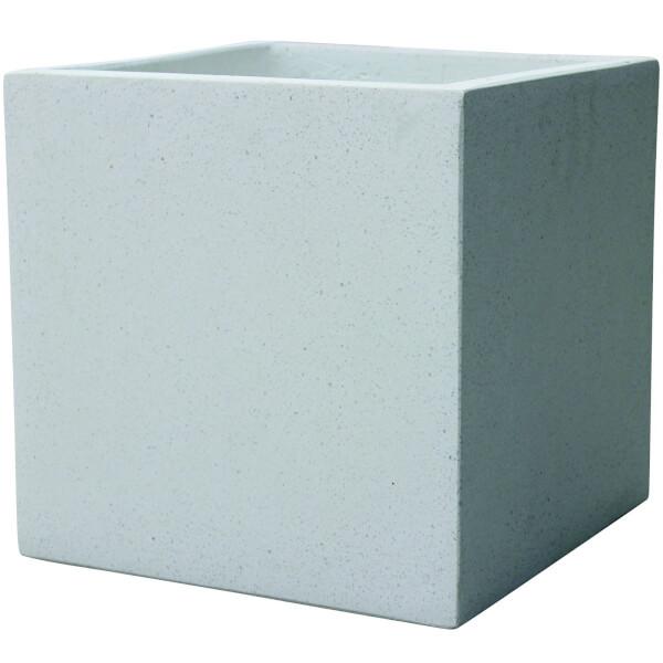 Plaza Cube Planter in White - 24cm