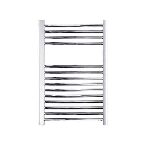 Chrome Straight Ladder Heated Towel Rail - 500 x 750mm