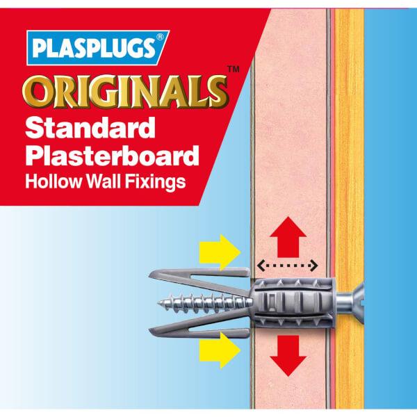 Plasplugs Plasterboard Fixings Clip Pack x 50