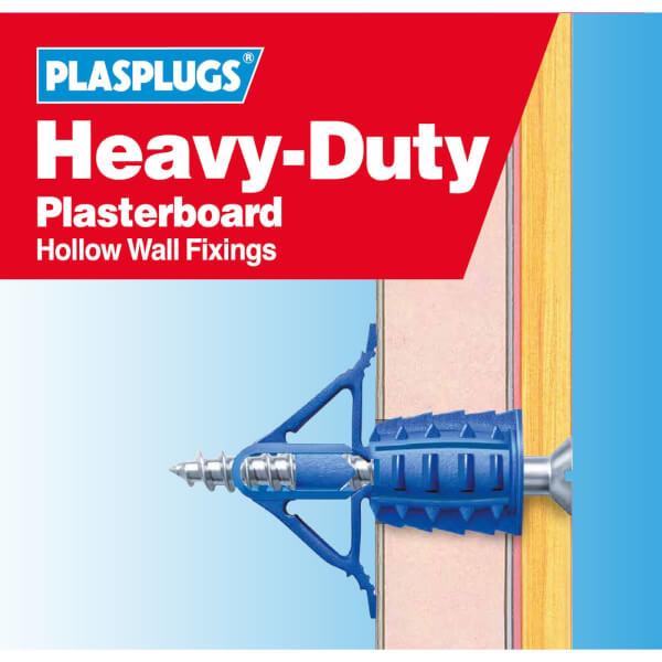 Plasplugs HD Plasterboard Fixings Clip Pack x 30