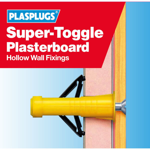 Plasplugs Super Toggle Fixings Clip Pack x 20