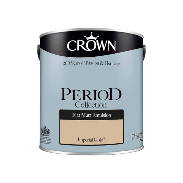 Crown Period Collection Imperial Gold Flat Matt Paint - 2.5L