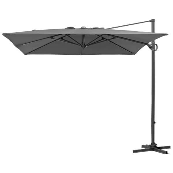 Nova Provence Cantilever Garden Parasol - Grey - 2.4m