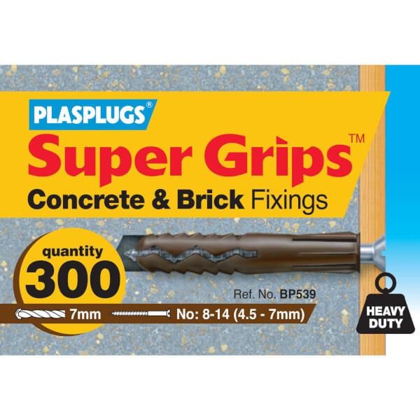 Plasplugs Bulk Brown Fixings x 300