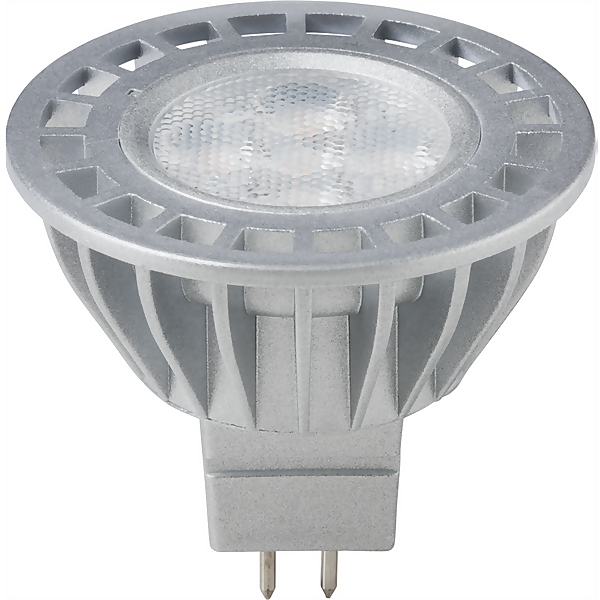 TCP LED MR16 7W Silver Light Bulb