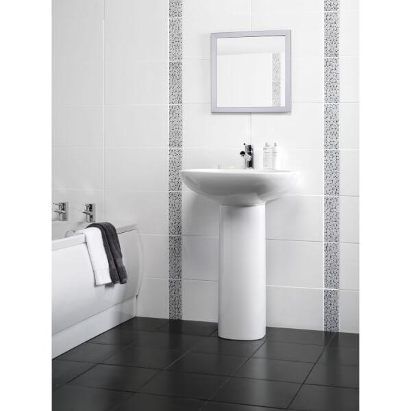 Flat White Wall Tile - 400 x 250mm