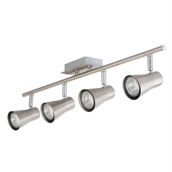 Verve Design Brushed Stainless Steel Swansea 4 x 35W Spotlight