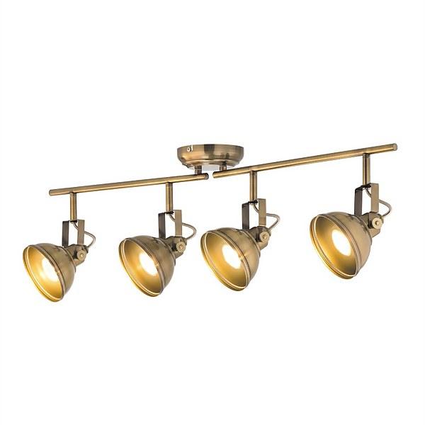 Verve Design Antique Brass Ditavon 4 x 35W Spotlight
