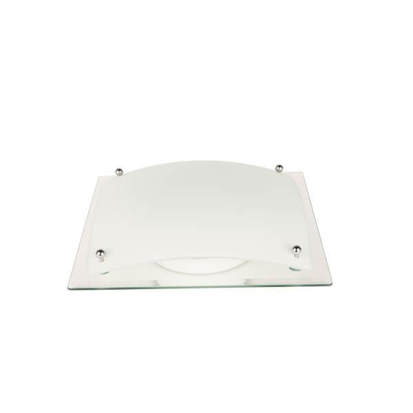 Verve Design Glacier Oyster 32cm Square Light White 1 x E27