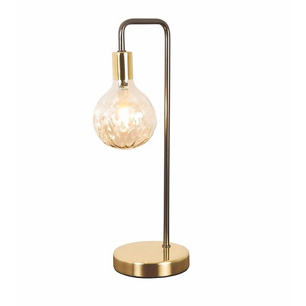 Cognac Table Lamp - Black and Satin Gold