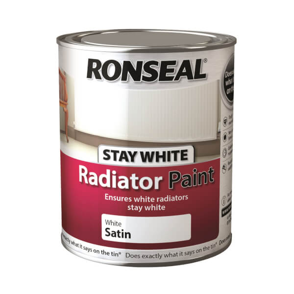 Ronseal Stays White Radiator Paint Satin - 750ml