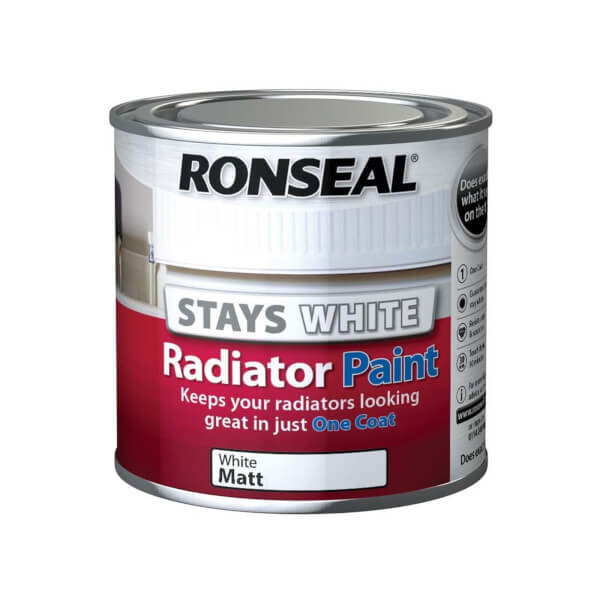 Ronseal Stays White Radiator Paint Matt - 250ml