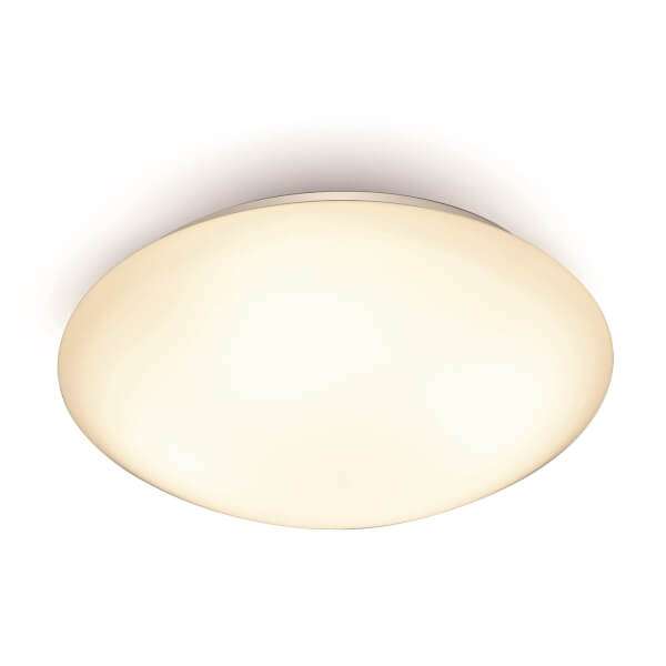Dion Flush Ceiling Light, White