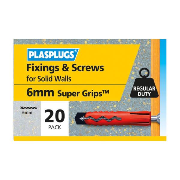 Plasplugs Red Plugs & Screws x 20