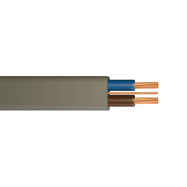 Pitacs 1mm Twin & Earth Cable 10m Grey 6242Y