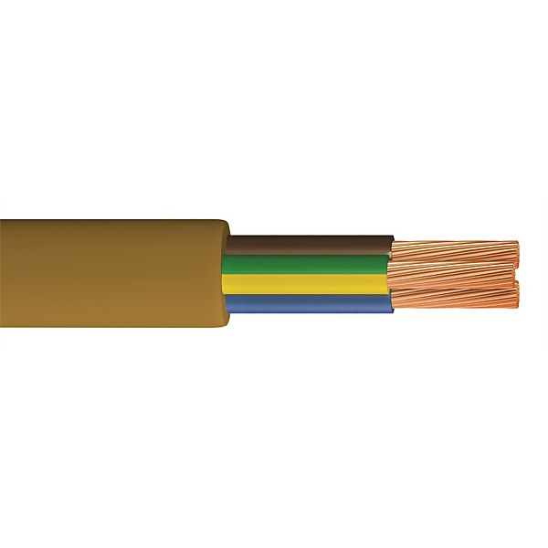 Pitacs 0.5mm 3 Core Round Flexible Cable 5m Gold 2183Y