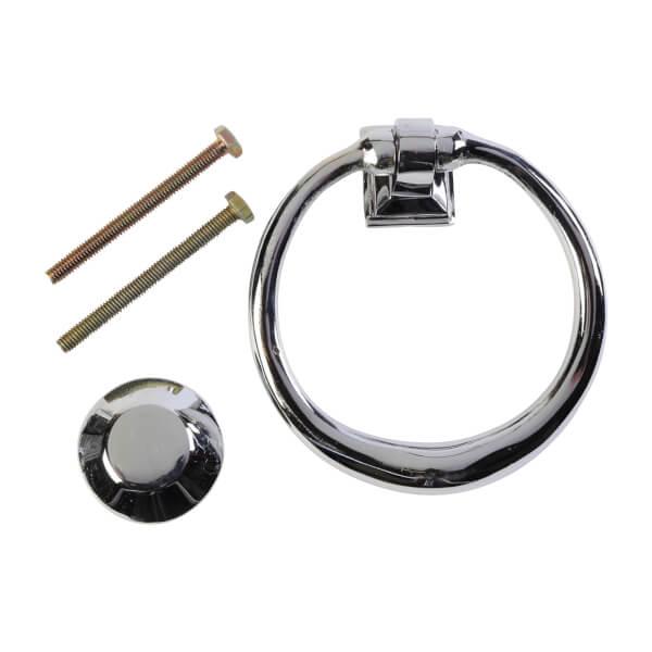 Circular Door Knocker - Chrome