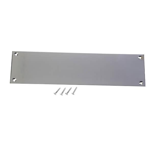 Victorian Polished Chrome Push Plate - 300 x 75mm
