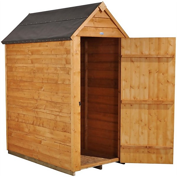 3x5ft Forest Garden Overlap Dip Treated Apex Wooden Shed
