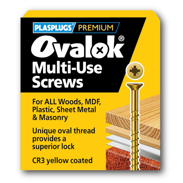 Ovalok Multi Purpose Screw - 4 x 60mm - 50 Pack