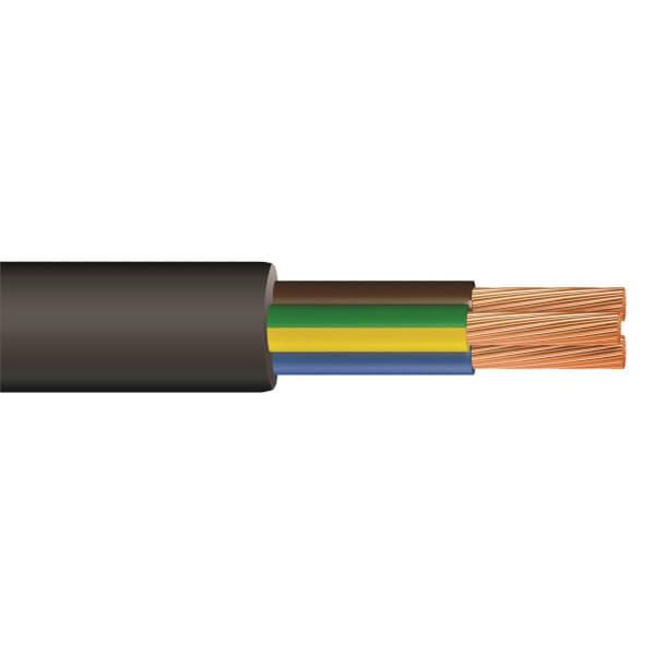 Pitacs 0.75mm 3 Core Round Flexible Pond Cable 10m Black 3183P