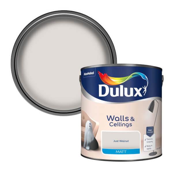 Dulux Just Walnut - Matt Emulsion Paint - 2.5L