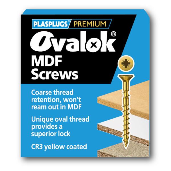 Ovalok MDF Screw - 4.0 x 40mm - 50 Pack