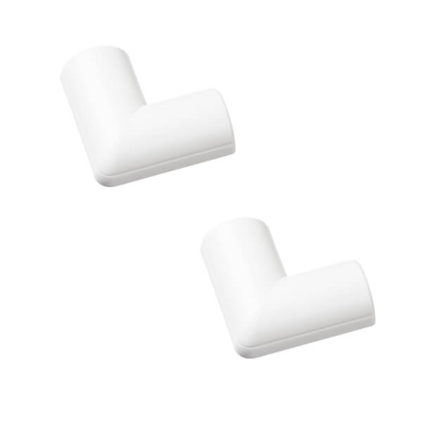 D-Line Mini Decorative Trunking Clip Over Flat Bends 2 Pack 30mm x 15mm White
