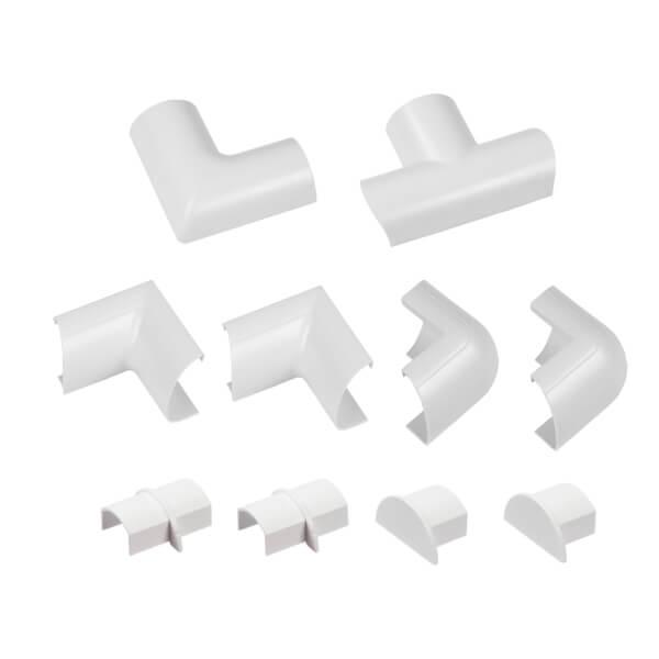D-Line Mini Decorative Trunking Clip Over 10 Piece Accessory Multipack 30mm x 15mm White