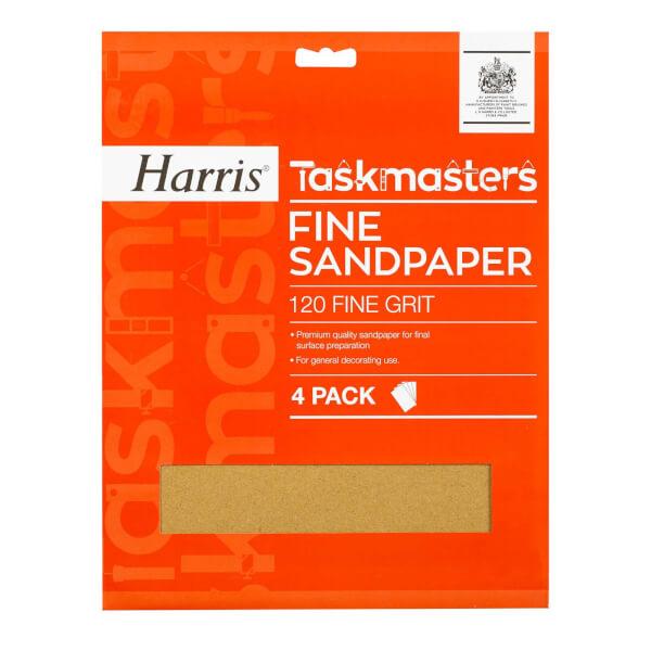 Harris Taskmasters Fine Sandpaper - 4 Pack