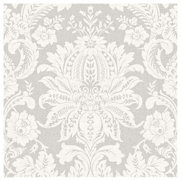 Superfresco Easy Paste the Wall Venetian Damask Wallpaper - Grey