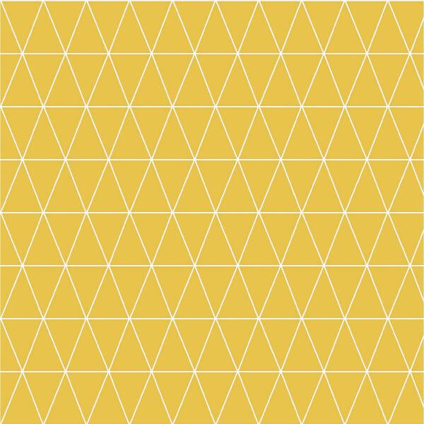 Superfresco Easy Paste the Wall Triangolin Wallpaper - Mustard