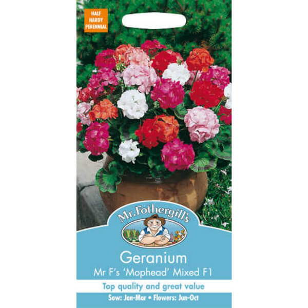 Geranium Mophead Selection Mixed F1 (Pelargonium Zonale) Seeds