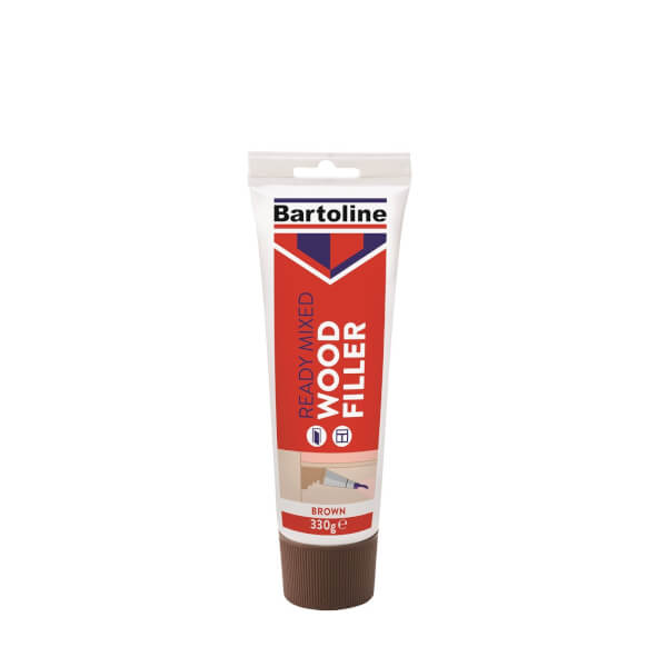 Bartoline Ready Mixed Brown Wood Filler - 330g